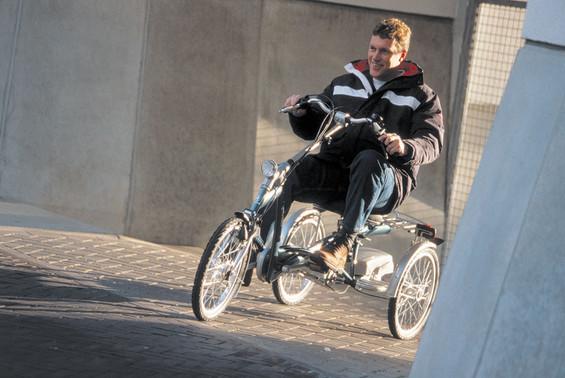 Dreirad fahren mit Behinderung
