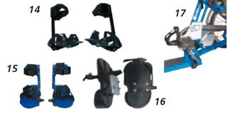 Fussfixierungen für Dreiräder - Dreiräder für Erwachsene