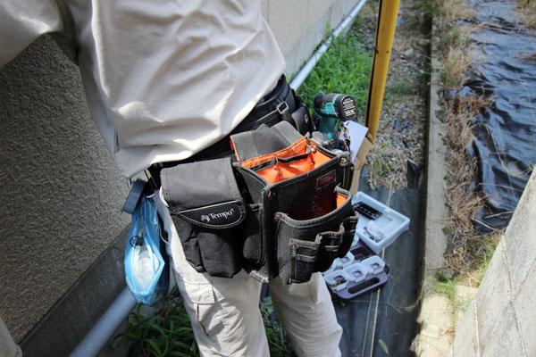 通信工事技術者の腰袋