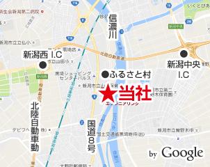 新潟県の通信機器工事会社の所在地
