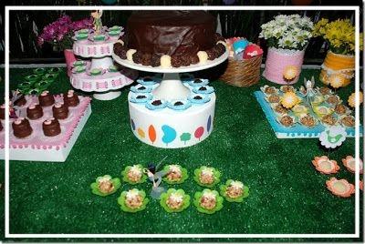 magische tuin, feestidee, tafeldecoratie, bonbon, vormpjes, grastegels