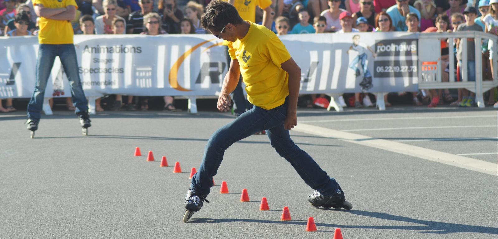 Rool - Démonstration Roller Pierre Célat en Slalom Freestyle