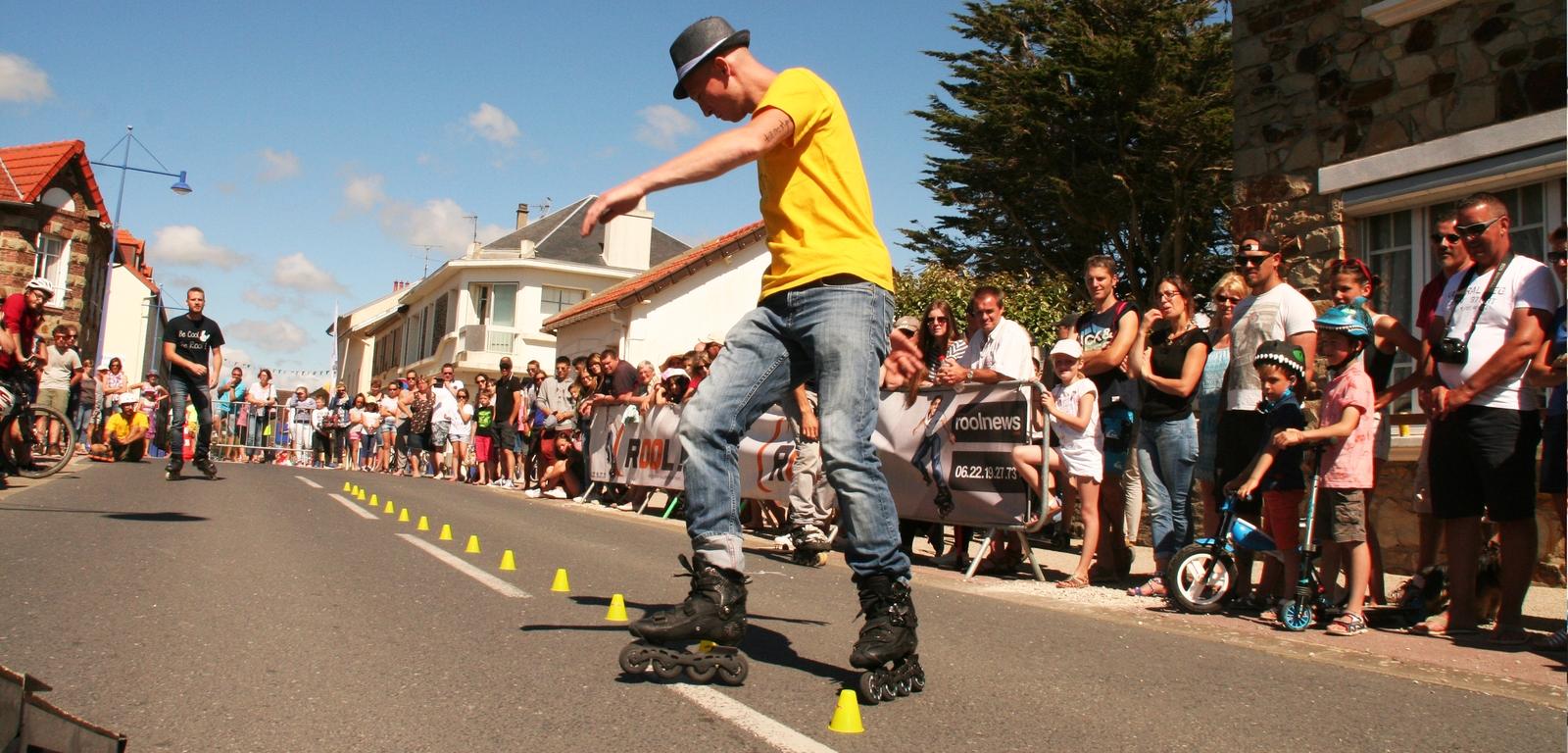 Rool - Démonstration Roller Ken Chalot Slalom freestyle, Spectacle de rue