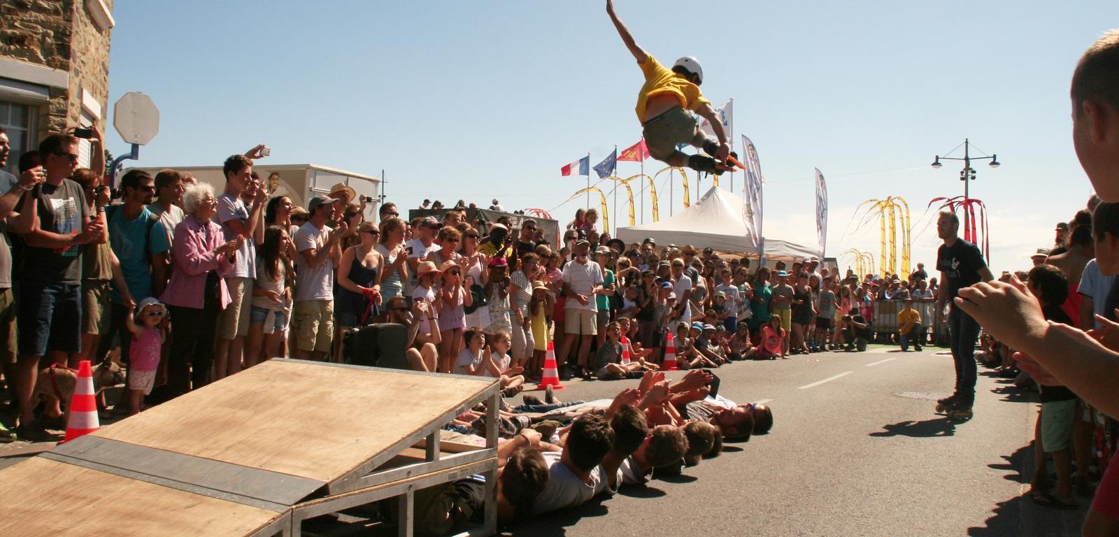Rool - Démonstration Roller Oscar Briex en Jump Tremplin à Barneville