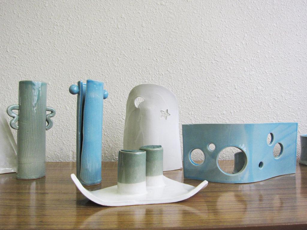 創った花器の作品2