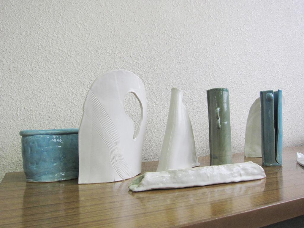 創った花器の作品1