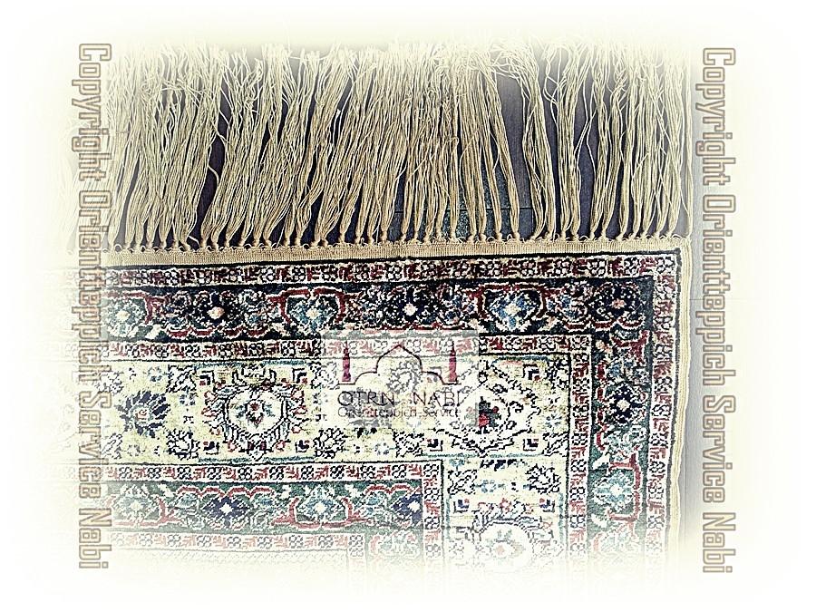 antike Kayseri Seiden Teppich Reparatur, (Bild 3)
