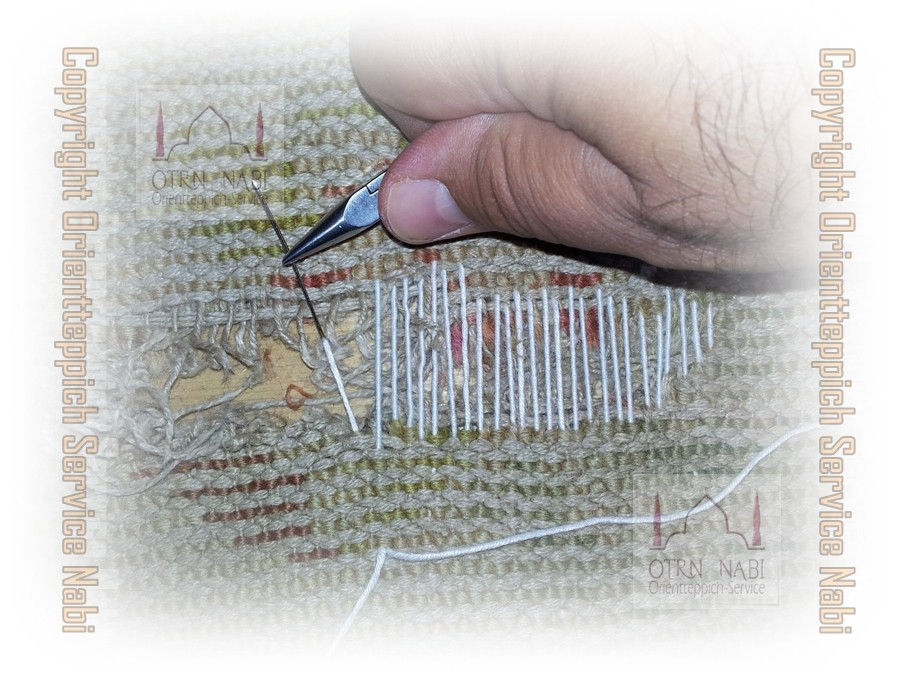 antike China Teppich Reparatur (Bild 2)