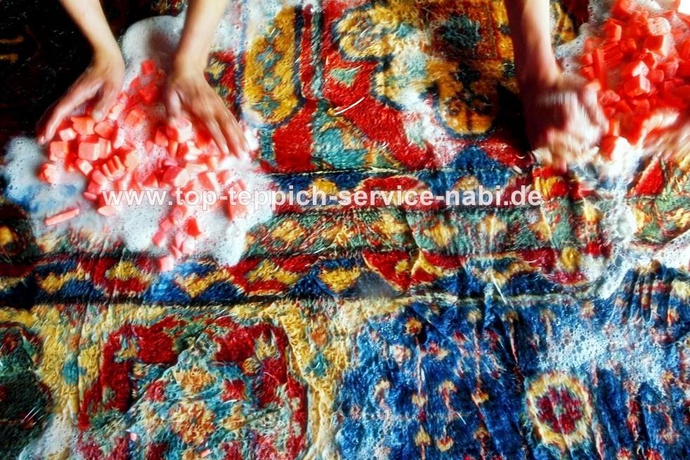 Teppich-Bio-Handwäsche