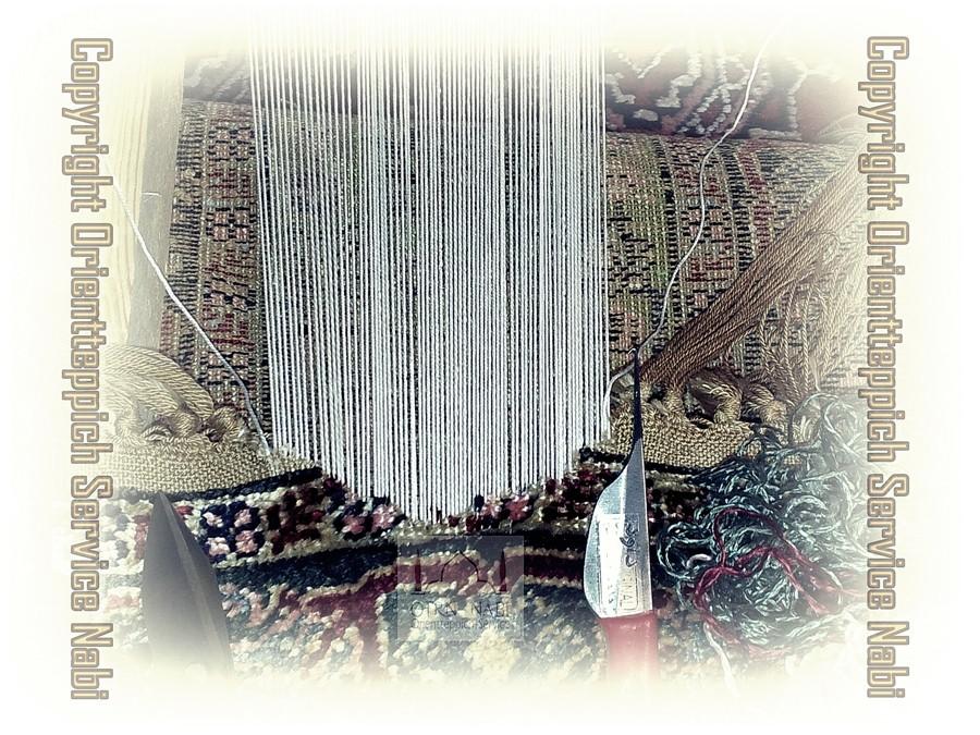antike Kayseri Seiden Teppich Reparatur, (Bild 1)