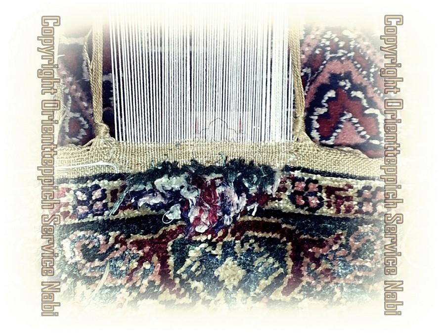 antike Kayseri Seiden Teppich Reparatur, (Bild 2)
