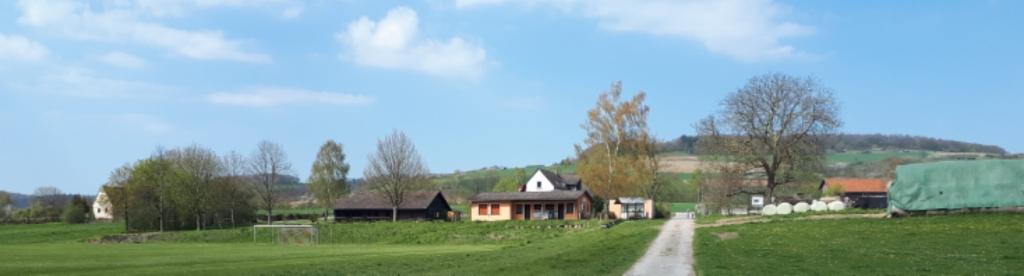 Blick von der Weser Richtung Sportplatz