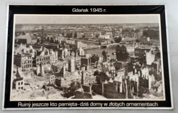 Die zerstörte Innenstadt von Danzig