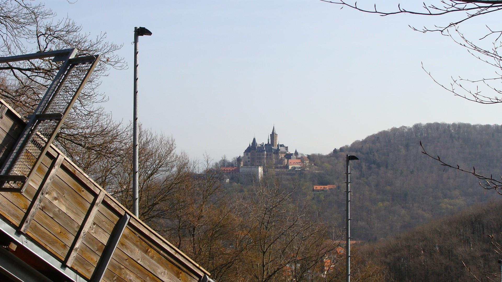 Skisprunganlage Wernigerode mit Schlossblick
