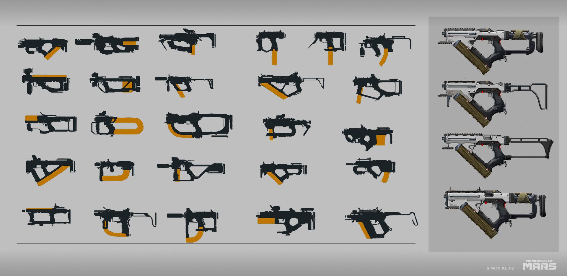 Submachine gun concepts.