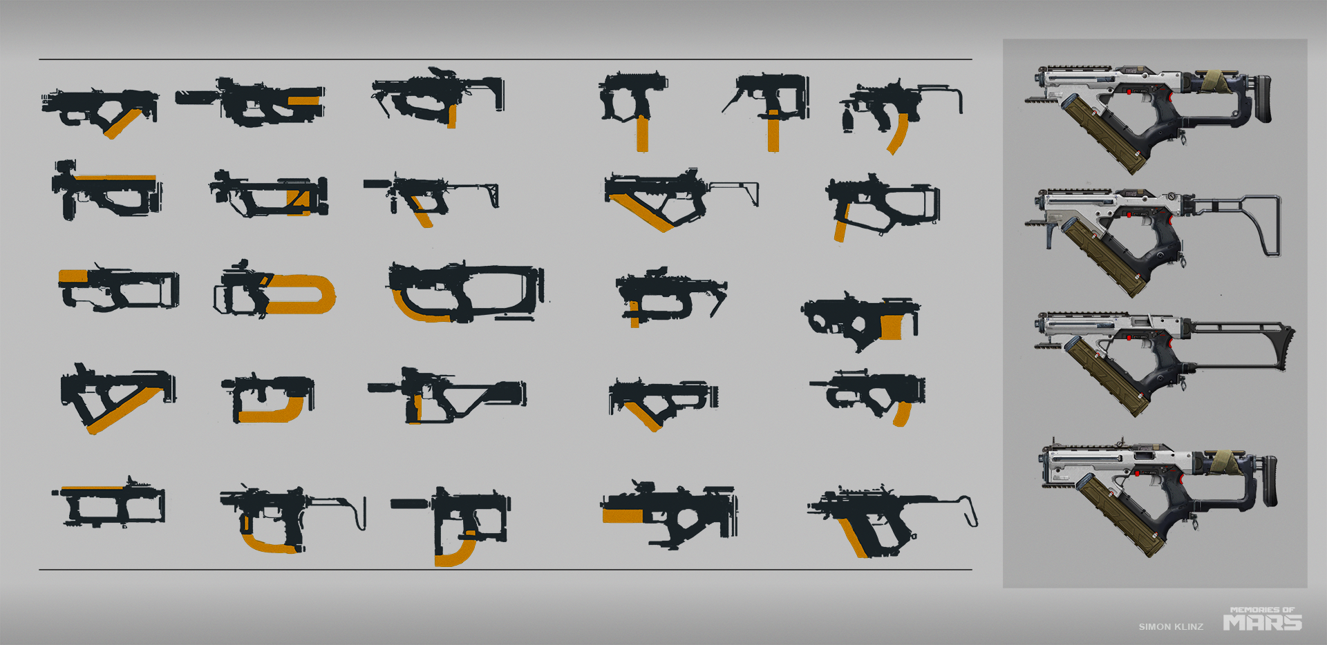Submachine gun concepts.