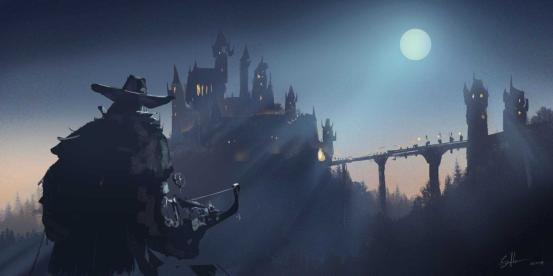 """Vampire Hunter"" sketch for FB daily spitpaint group (30 min)"