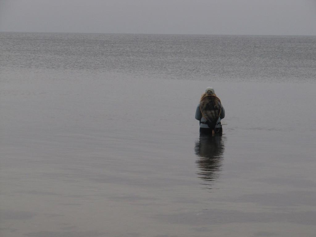 unsere fliegenfischende Sara Fyn