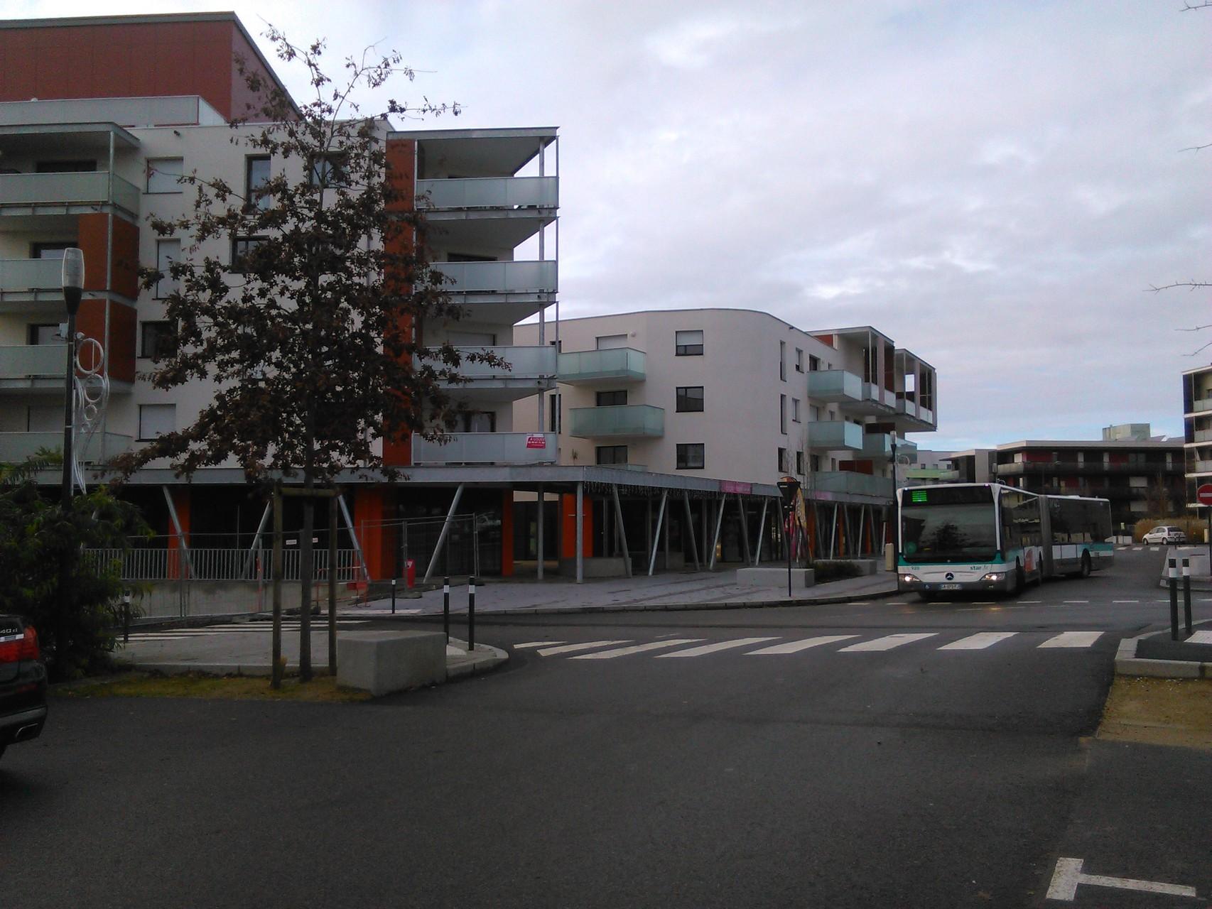 Accès Réseau STAR - Ligne 1 - Sens Chantepie - Arrêt ROSA PARKS