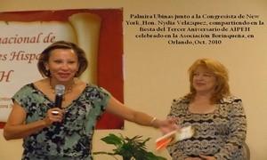 Con la Congresista de NY, Nydia Velazquez