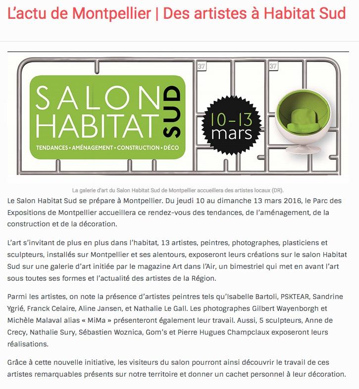 Habitat Sud - Galerie d'Art-03/2016