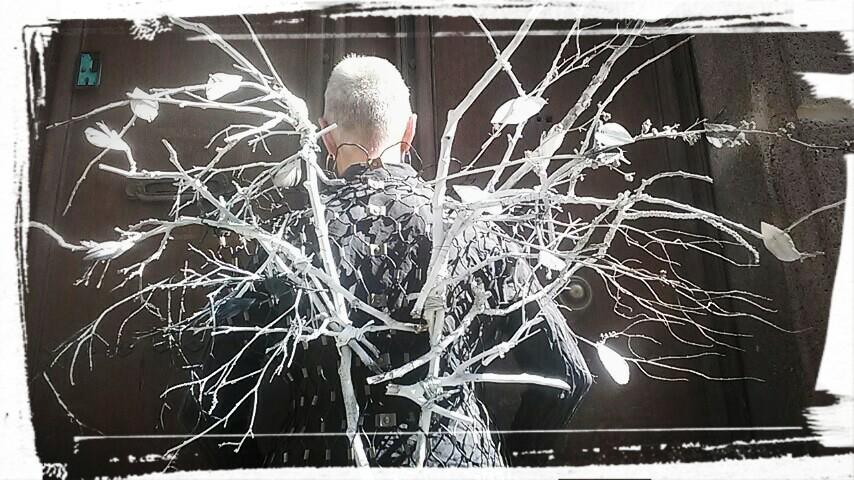 Attribut Pégase - Réalisation 2019 avec des branches, brindilles et plumes