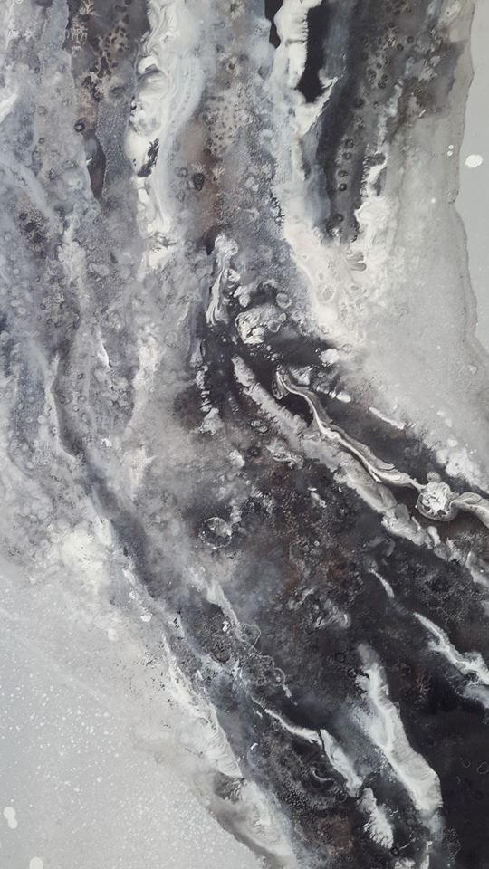 Méduse - détail -100x50 cm-