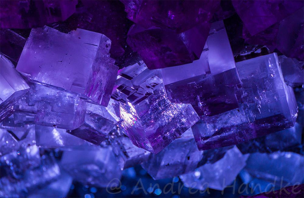 Salzkristalle in der Kristallgrotte
