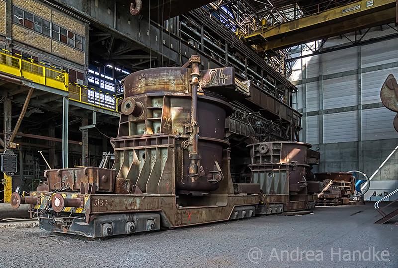 Gießwagen Siemens-Martin-Ofen