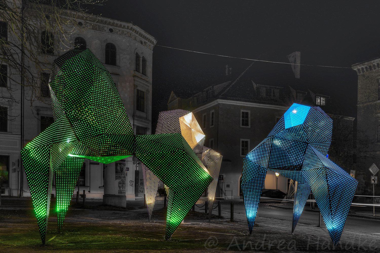 """""""Herde"""", Kunstobjekt im Rahmen der Görlitzer ART von Piotr Wesołowski"""