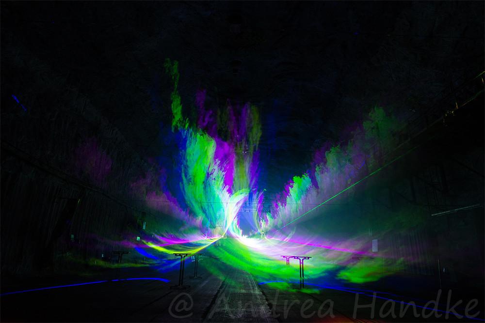 Lasershow im Großbunker