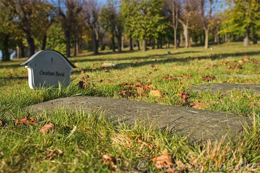 Grab von Christian David, Gründer von Herrnhut und Missionar der Herrnhuter Brüdergemeinde