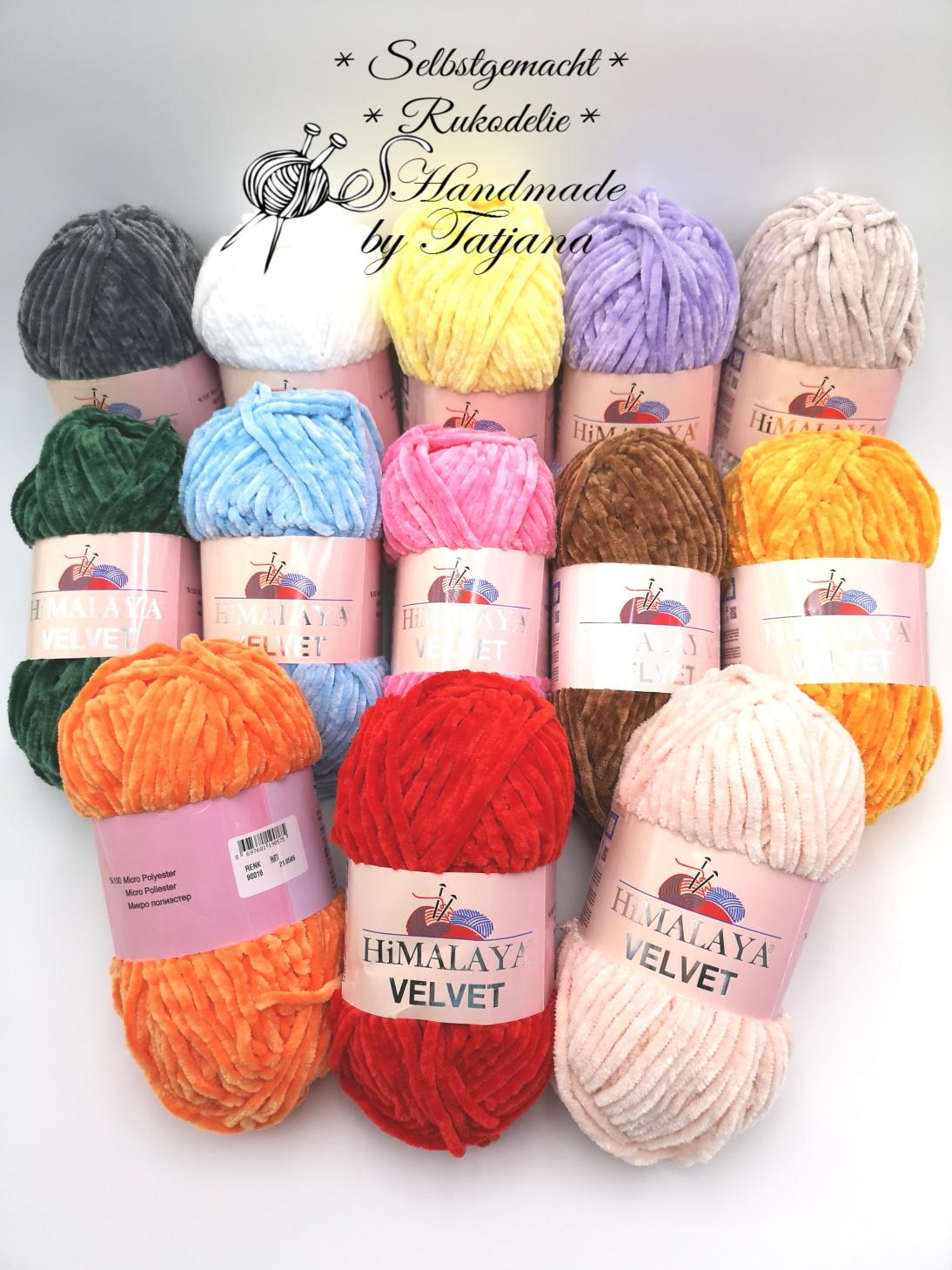 Himalaya Velvet - Chenille Wolle glänzend - neu im Shop