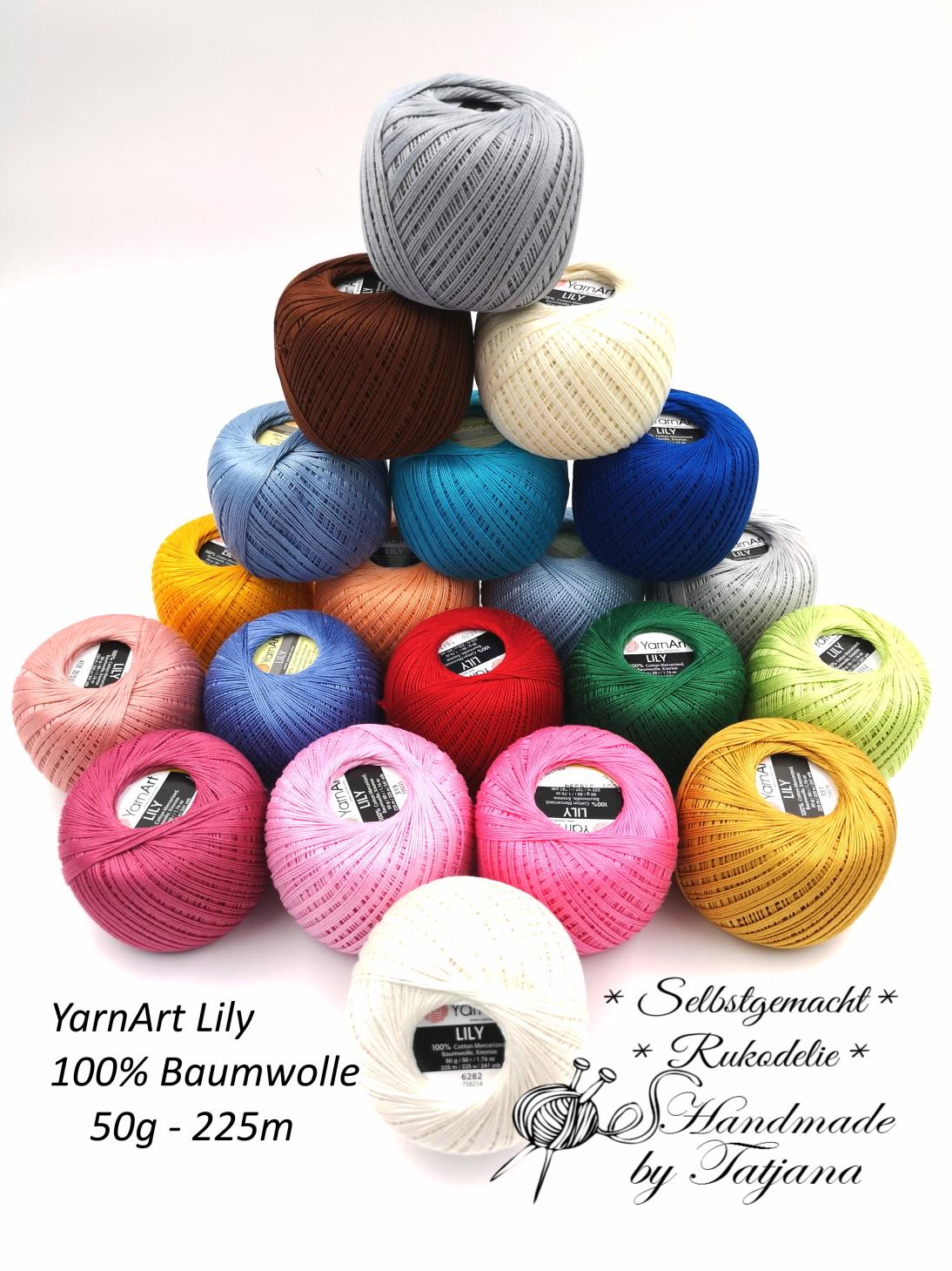 YarnArt Lily 100%Baumwolle 50g/225m neu im Shop