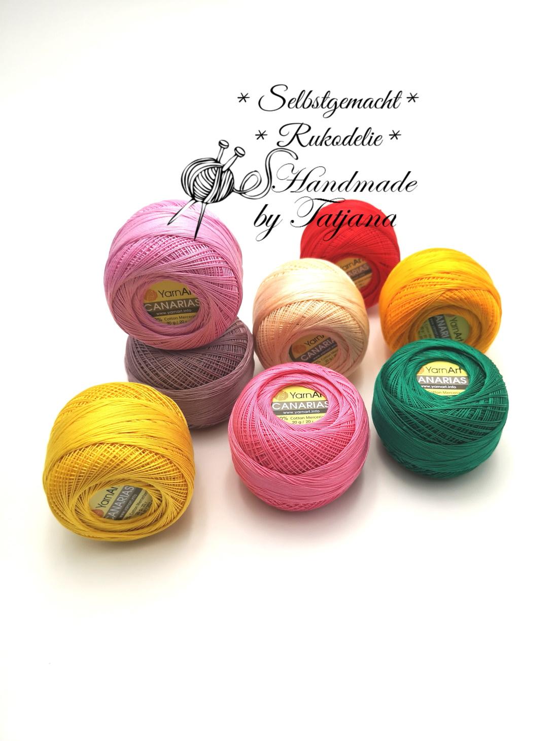 Neue Farben-YarnArt Canaris - 100%Baumwolle / Cotton 20g~203m