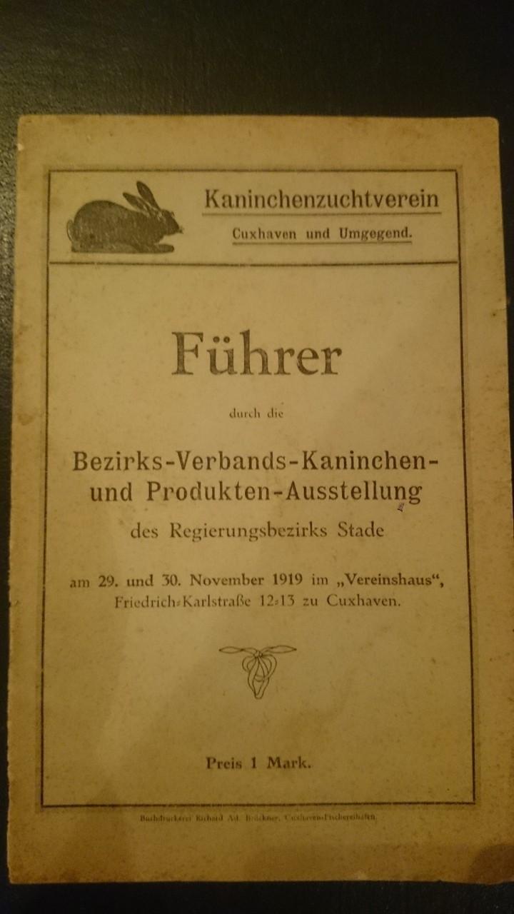 Ausstellungskatalog von 1919