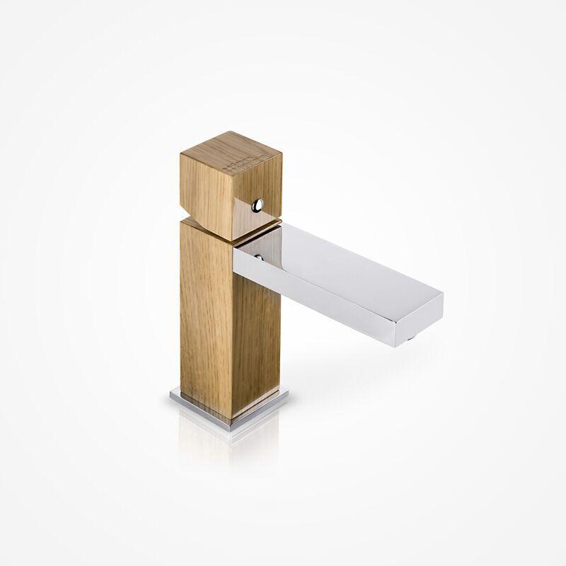 Niedrige Waschtischarmatur GHD02 (Ausführung Eiche)