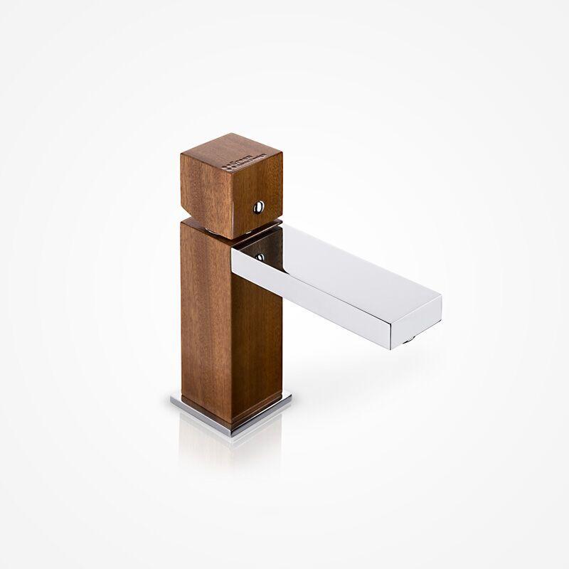 Niedrige Waschtischarmatur GHD02 (Ausführung Mahagoni)