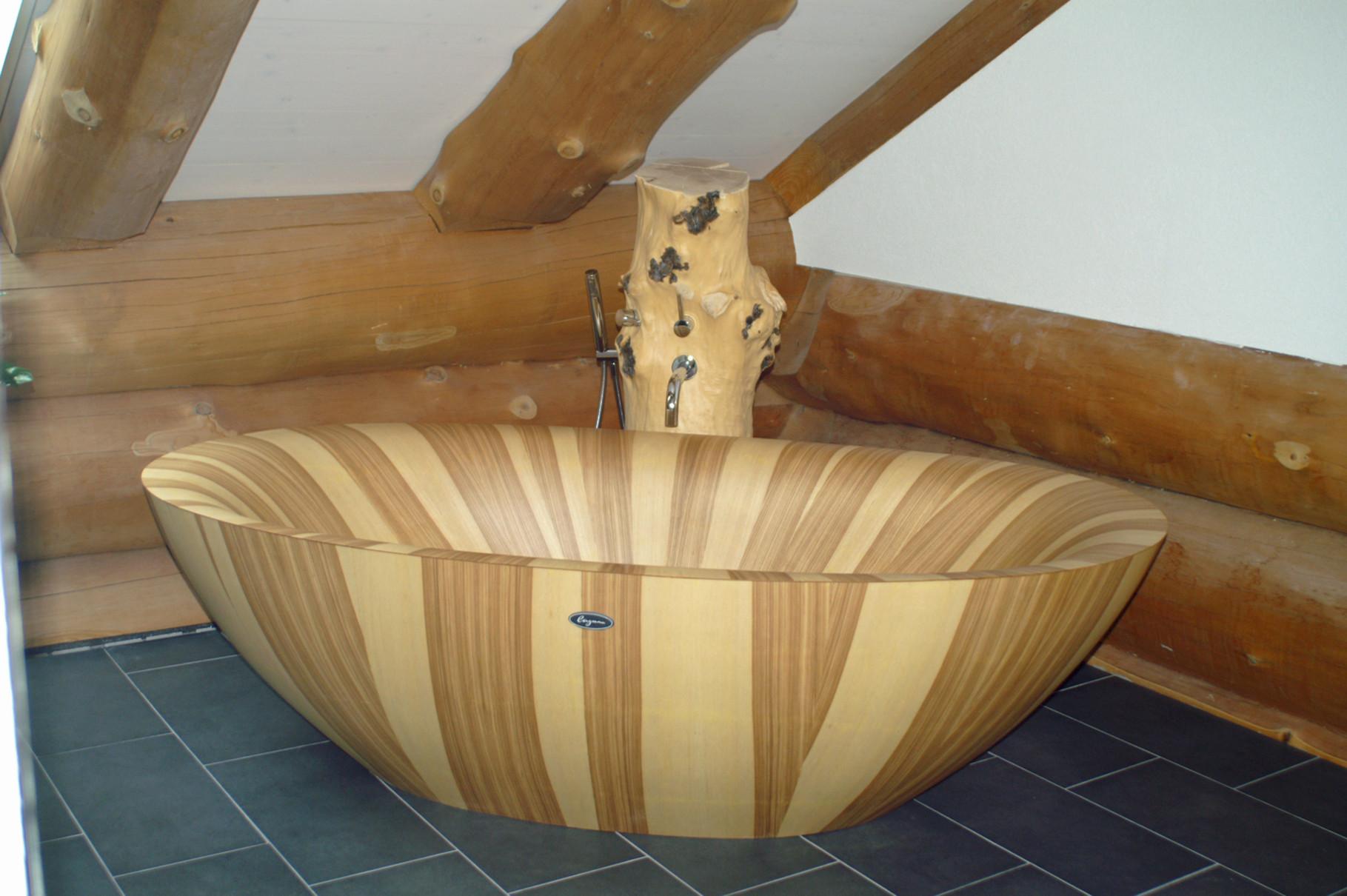 weitere produktansichten - Badewanne Holzoptik