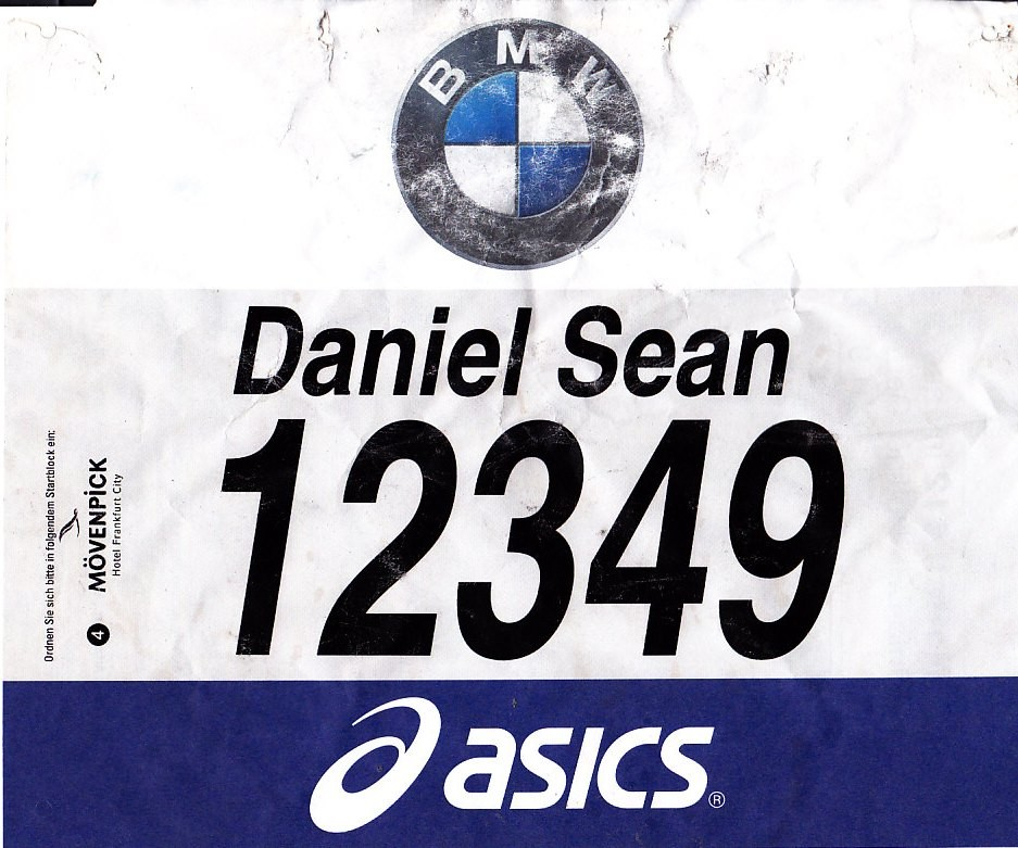 Frankfurt Marathon 2014 - Startnummer