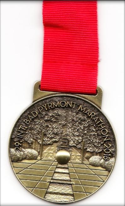 Bad Pyrmont Marathon 2018 - Medaille