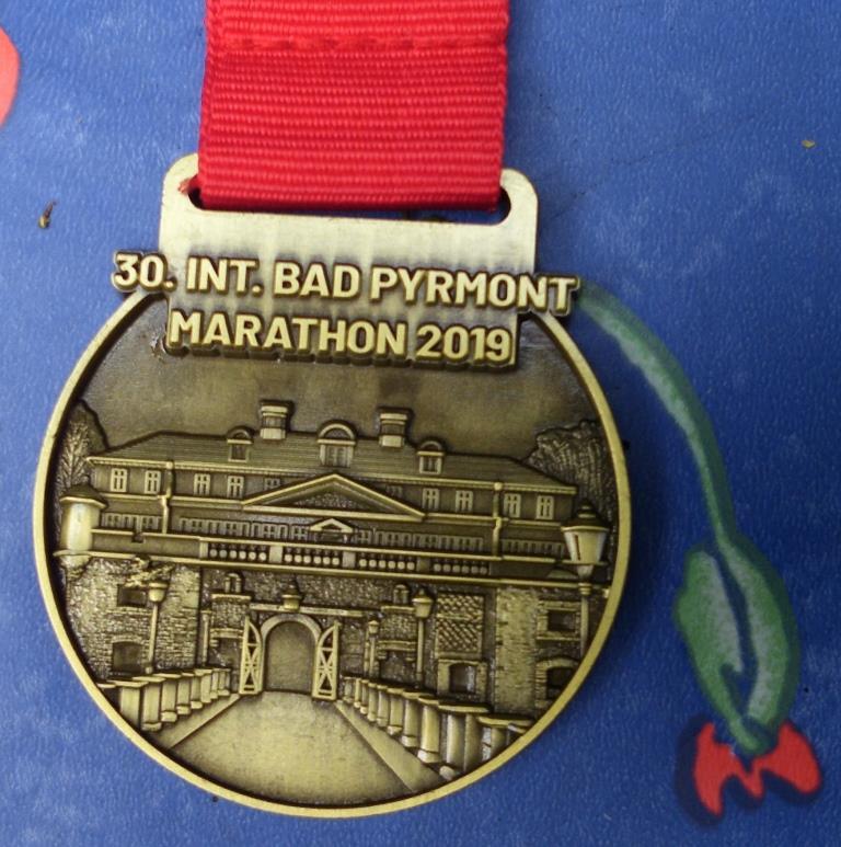 Bad Pyrmont Marathon 2019 - Medaille (42,195 KM)