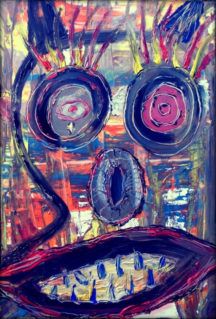 Serial killer - Acryl auf Leinwand - 60 x 90 cm - by Don15