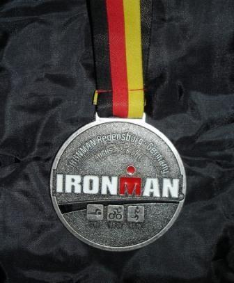 Finisher Medaille -  IRONMAN Regensburg 2011