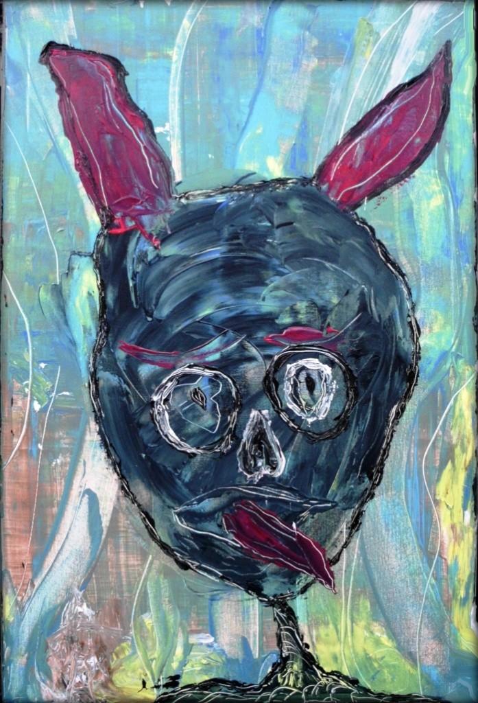 Der Zungenteufel im Zauberwald - Acryl auf Leinwand - 60 x 90 cm - by Don15