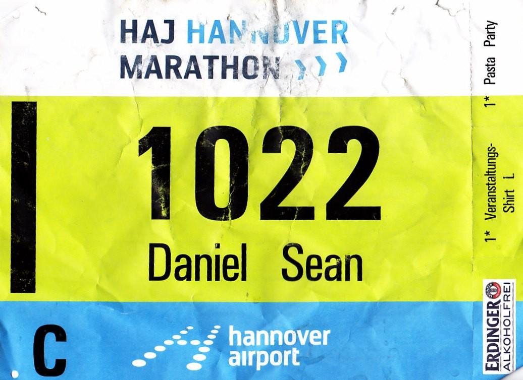 Hannover Marathon 2015 - Startnummer