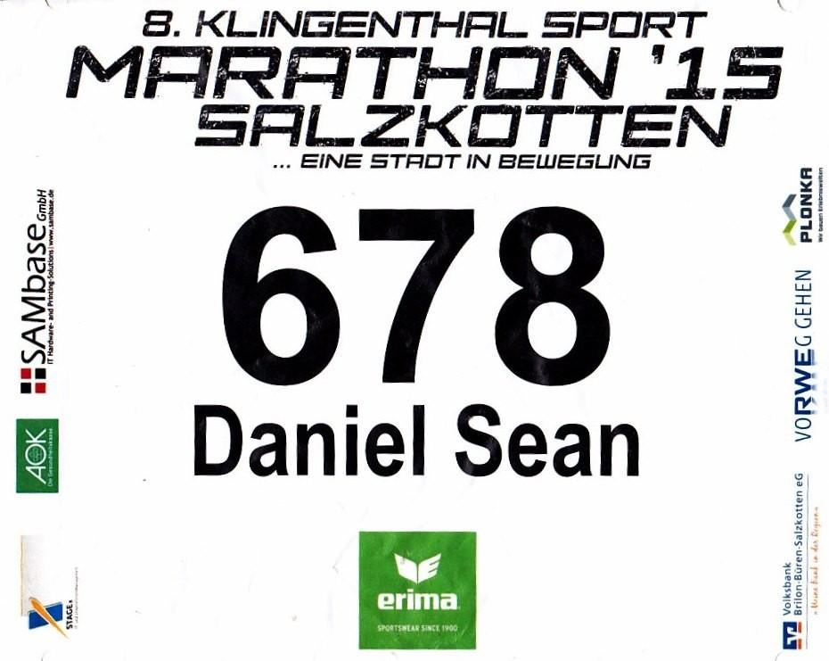 Salzkotten Marathon 2015 - Startnummer
