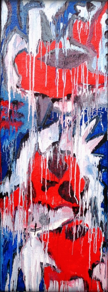 Freeze (front) / Buntlack auf Holz / 63 x 169 cm / by Don15