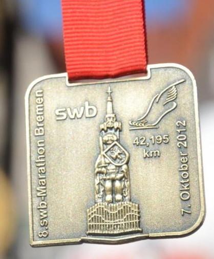 Bremen Marathon 2012 - Medaille