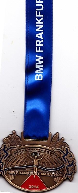 Frankfurt Marathon 2014 - Medaille